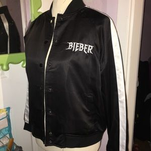 467a74fd3 Purpose tour bomber jacket Justin Bieber Merch